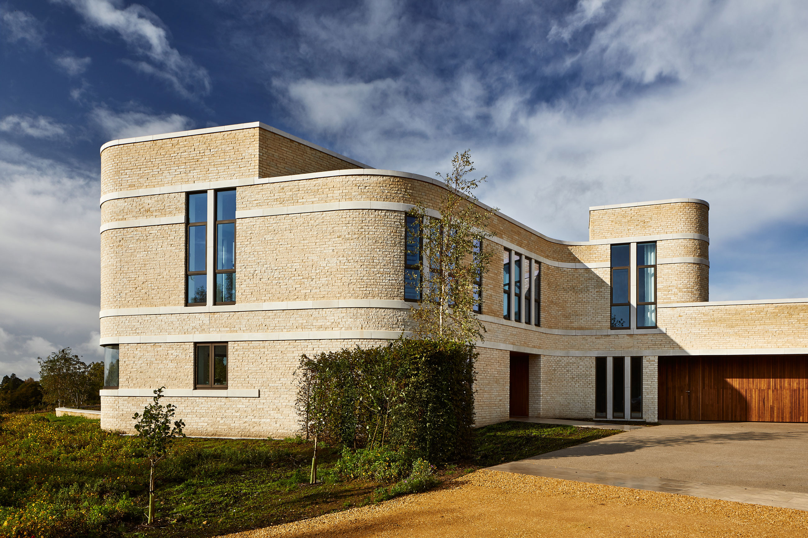 Contemporary new build house, Cotswolds
