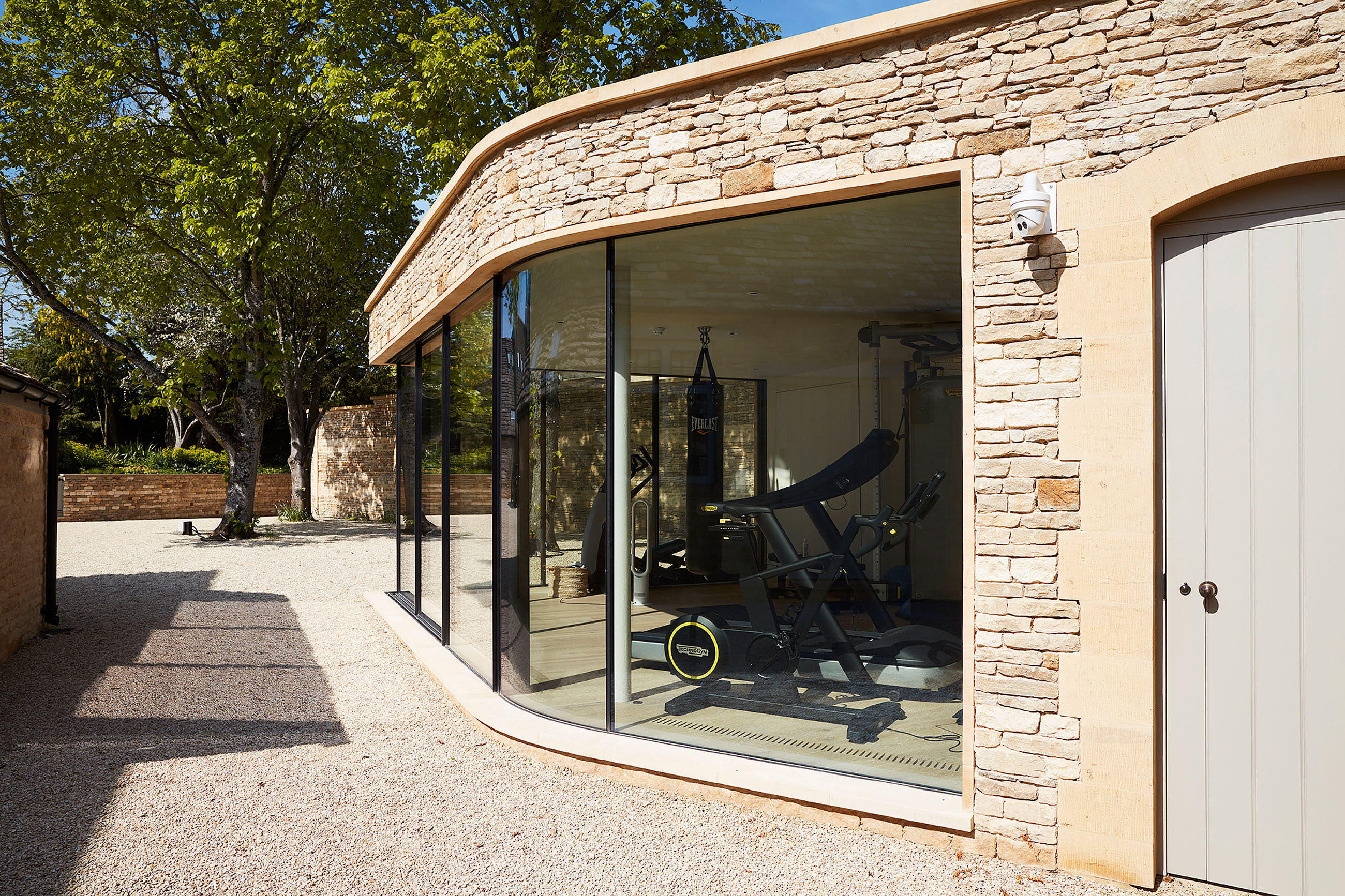 NEW BUILD GYMNASIUM AND GARAGES, COTSWOLD MANOR HOUSE